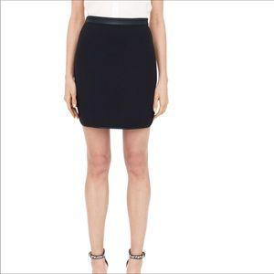 b29dd8513d Club Monaco. ⬇️CLUB MONACO | Black Leather Trim Mini Skirt